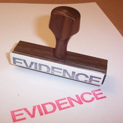 A stamp of evidence