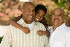 A three-generation family - looking happy