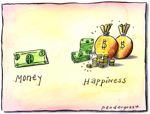 Can money bring a happy life