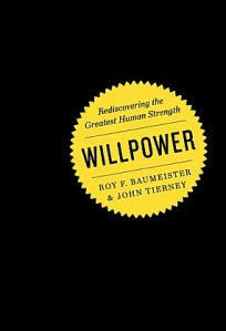 Cover of Baumeister and Tierney's book 'Willpower'