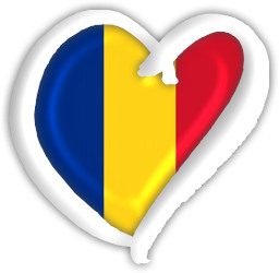 Romanian flag within a heart