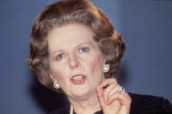Picture of Margaret Thatcher as PM