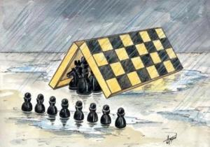 cartoon - chess