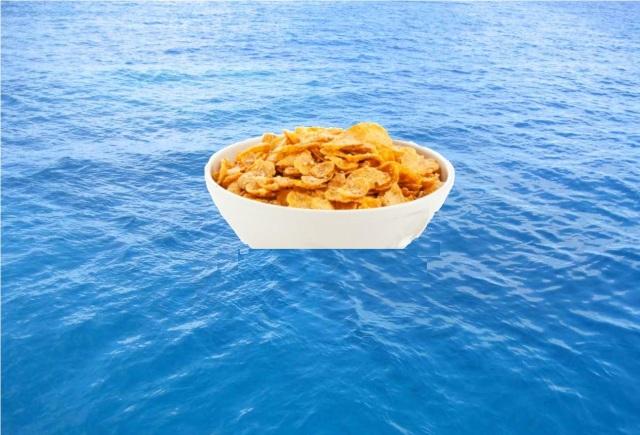 Cornflake lifeboat