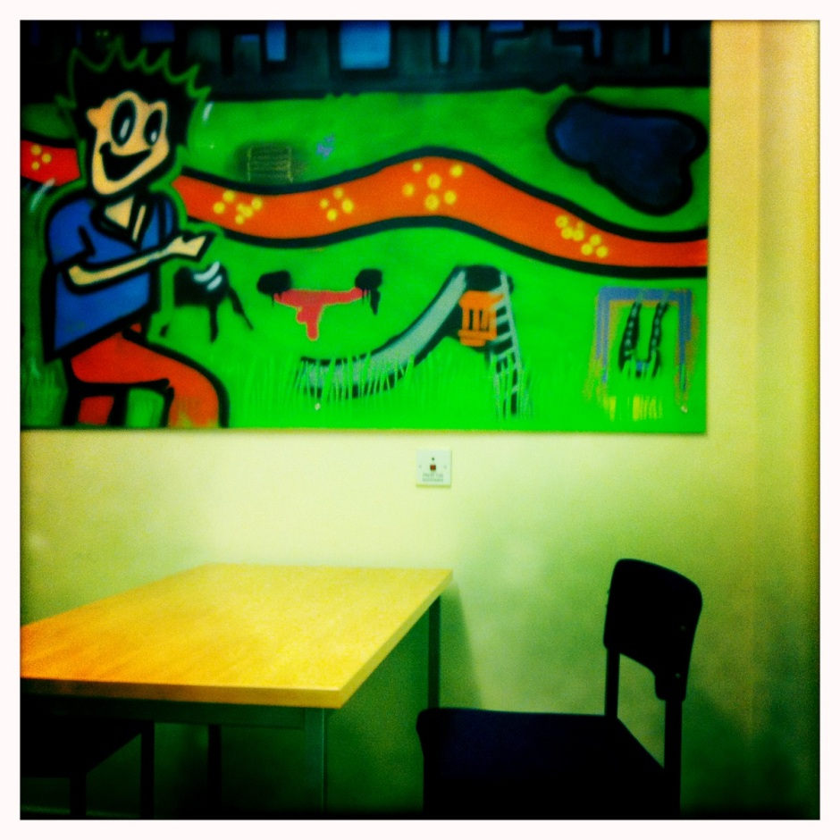 Children's focus group room. Copyright Sarah Brooks-Wilson, 2014